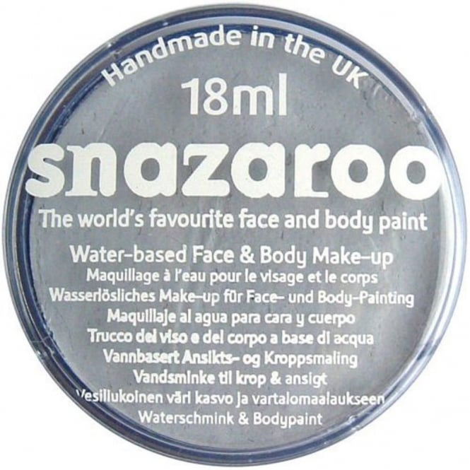 Grey Face And Body Paint (Snazaroo™) - Accessory