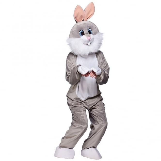 Grey Funny Rabbit Mascot   Adult Costume