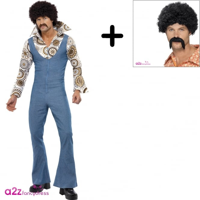 Groovy Dancer - Adult Costume Set (Costume, Wig, Tash)