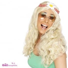 Groovy Wig (Blonde) - Adult Accessory