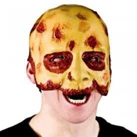 Half Face Zombie Mask - Adult Accessory