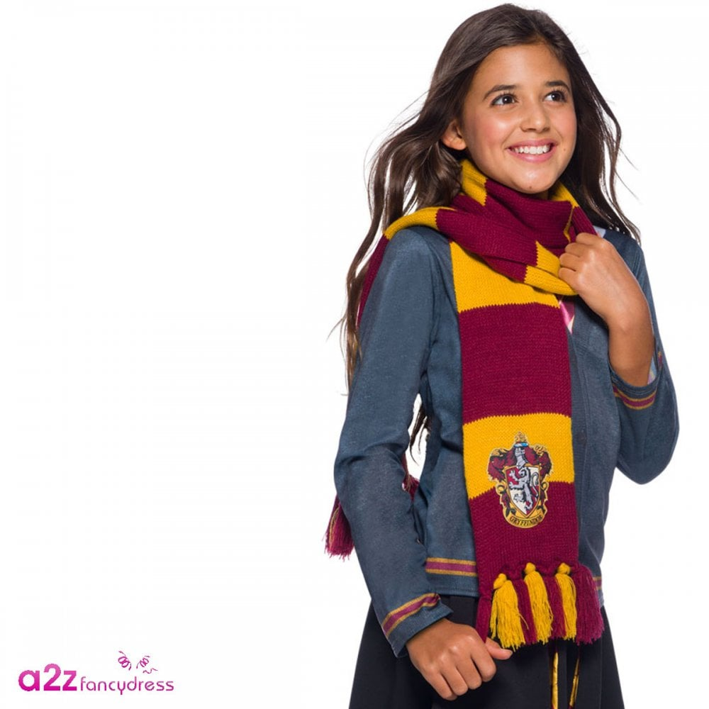 c517f3b5a4c ~ Gryffindor Deluxe Scarf With Embroidered Badge - Accessory