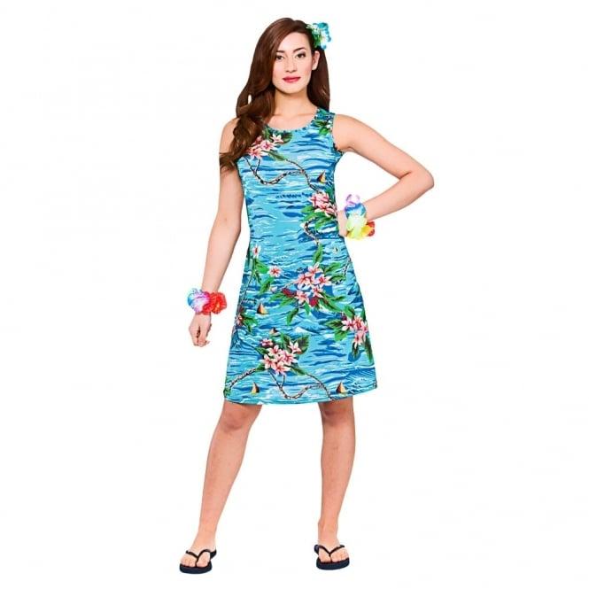 f8a69a5dc58 Hawaii Dress (Short Orchid Ocean) - Adult Costume