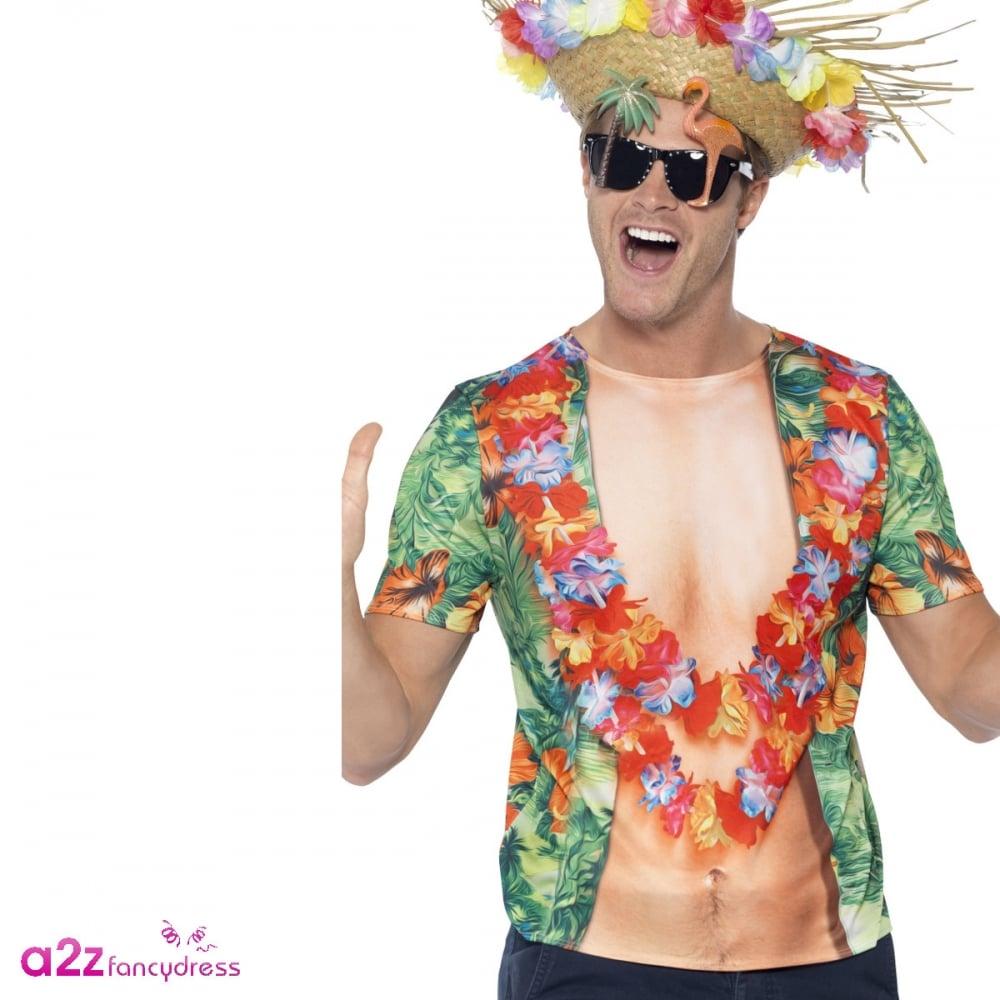 cda1ccb0e Hawaiian T-Shirt - Adult Costume - Mens Costumes from A2Z Fancy Dress UK