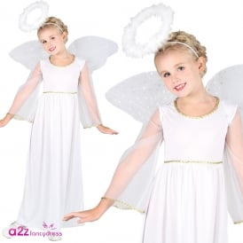 Heavenly Angel with Wings and Halo - Kids Costume