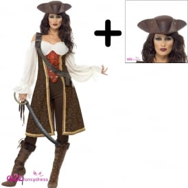 High Seas Pirate Wench - Adult Costume Set 2 (Costume, Hat)