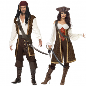 High Seas Pirates - Couples Costumes