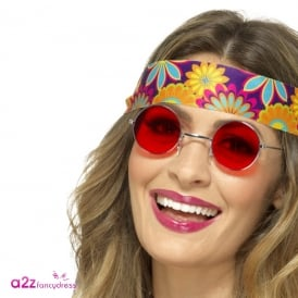 Hippie Specs (Red) - Adult Accessory
