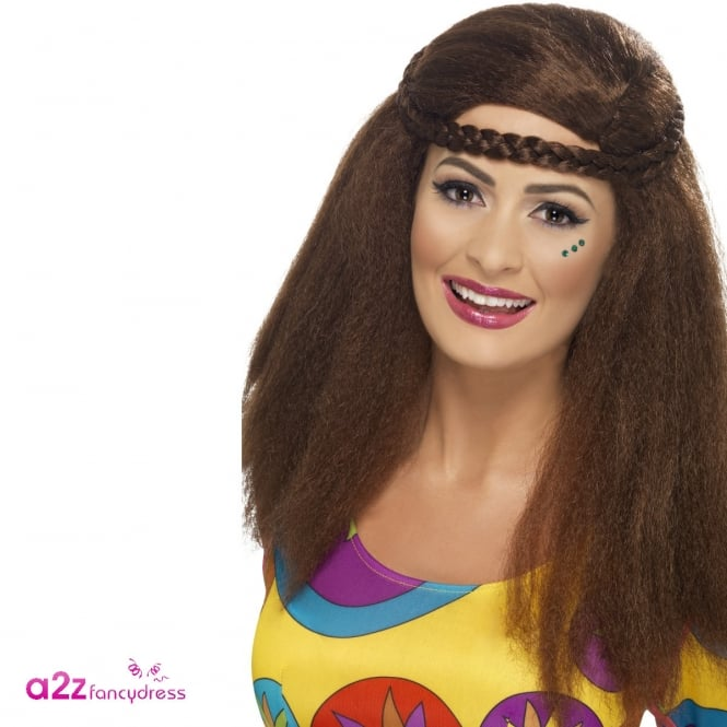 Hippy Chick Long Afro Wig - Adult Accessory
