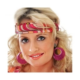 Hippy Earrings (Bright Pink) - Accessory