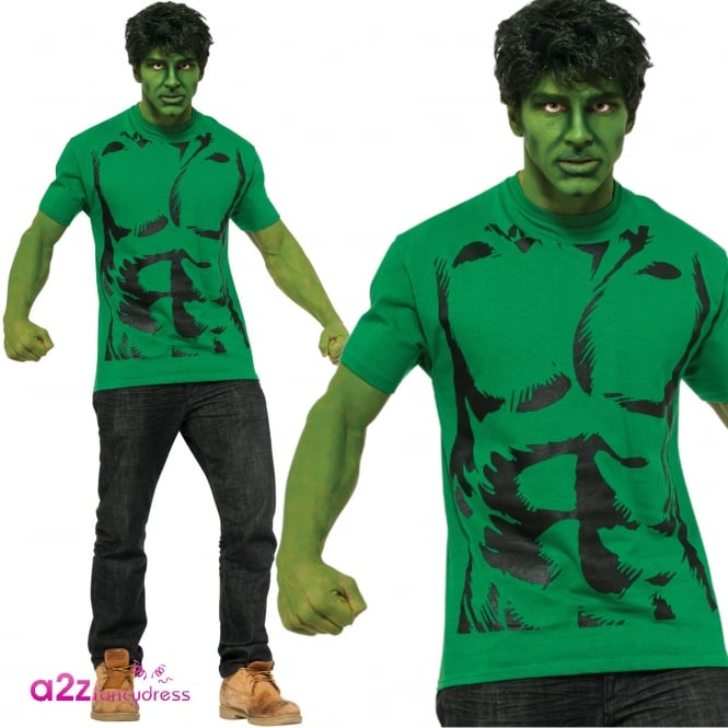 AVENGERS - ASSEMBLE ~ Hulk T-Shirt Set - Adult Accessory