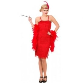 Jazzy Flapper (Red) - Adult Costume