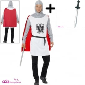 Knight - Adult Costume (Costume, Sword)