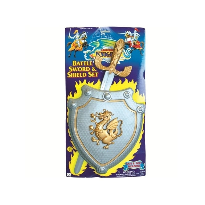 Knights Battle Sword & Shield Set - Kids Accessory