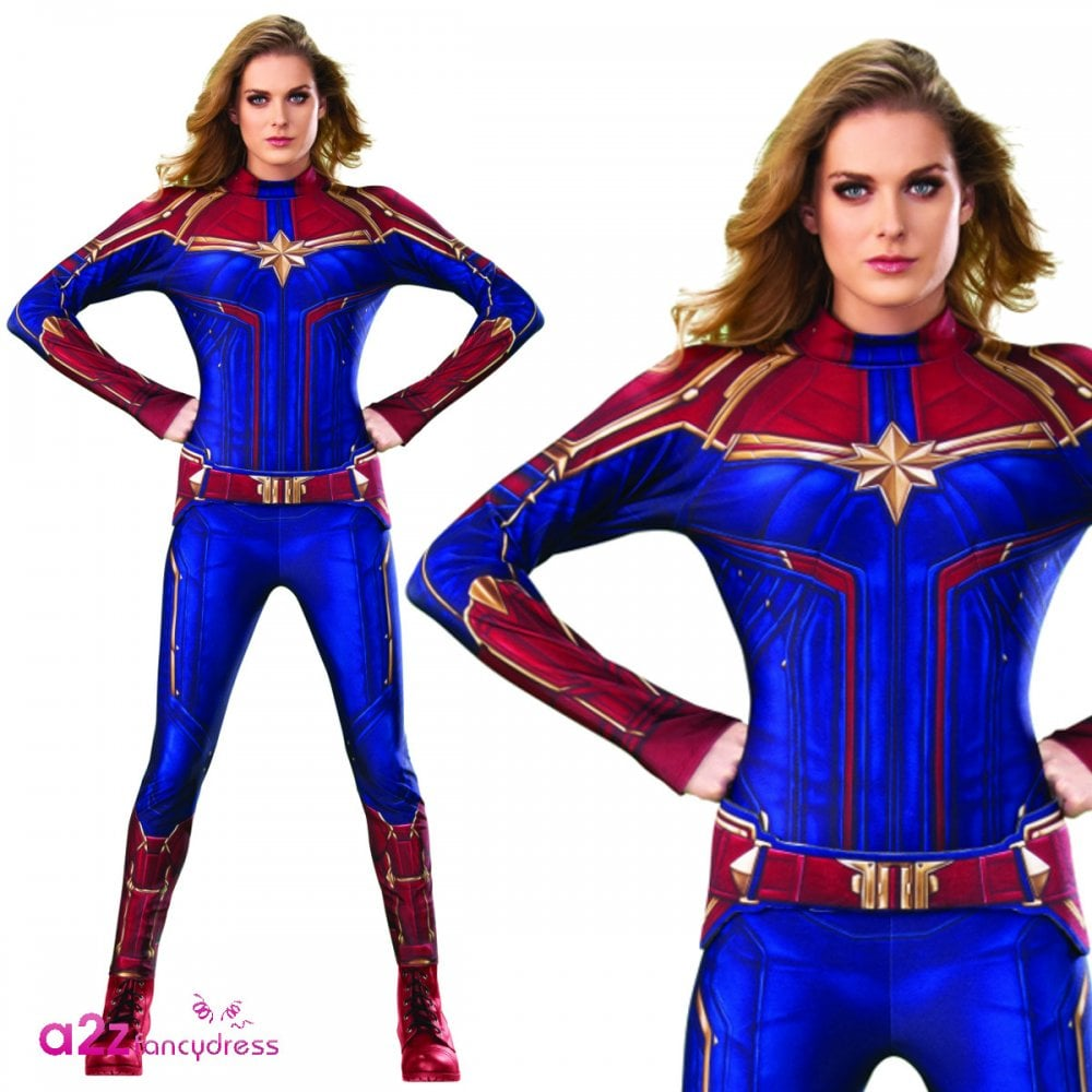 Ladies Hero Suit 2019 Captain Marvel Adult Costume Ladies Costumes From A2z Fancy Dress Uk Captain marvel (brie larson) is the superhero identity of carol danvers, a former u.s. ladies hero suit 2019 captain marvel adult costume