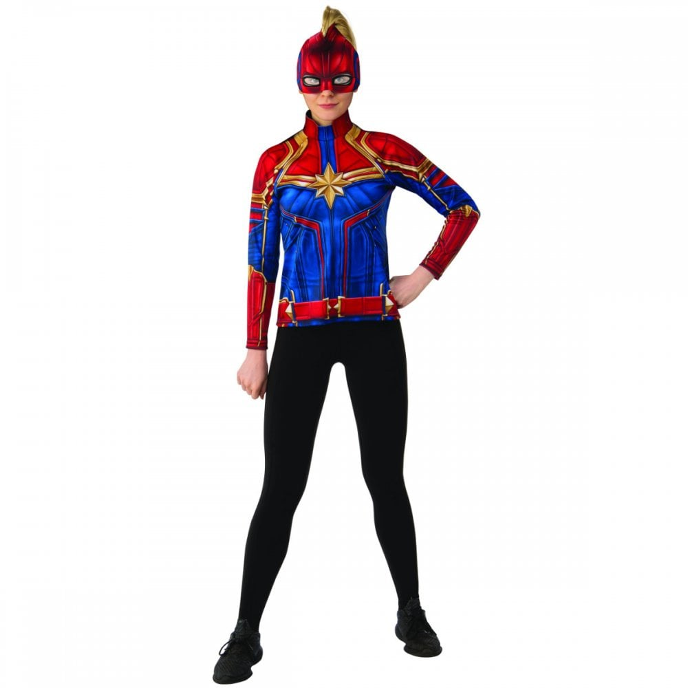 Ladies Hero Suit Top Headpiece New 2019 Captain Marvel Adult Costume Ladies Costumes From A2z Fancy Dress Uk Kids captain marvel economy hero suit costume. ladies hero suit top headpiece new 2019 captain marvel adult costume