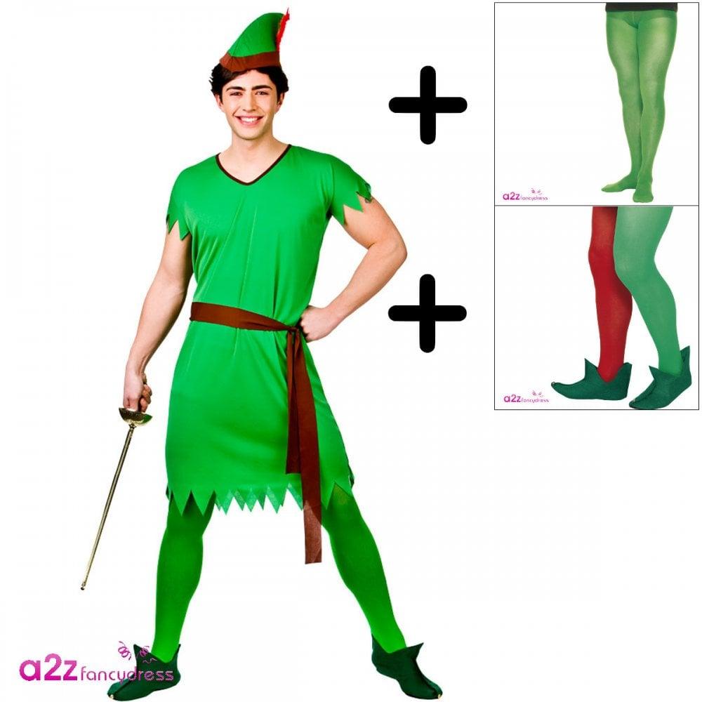 8028caf2aba Lost Boy/Elf/Robin Hood - Adult Costume Set (Costume, Tights, Boots)