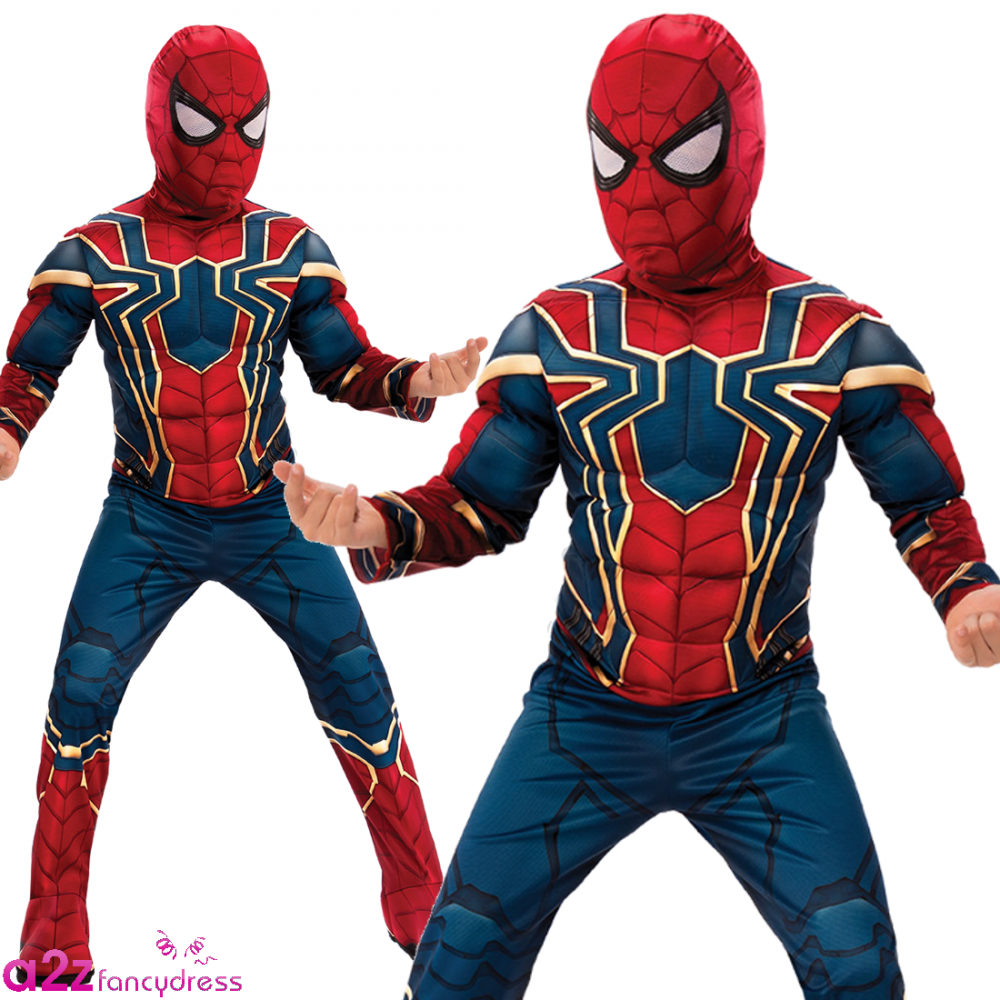 iron spiderman deluxe new 2018 avengers infinity war kids costume