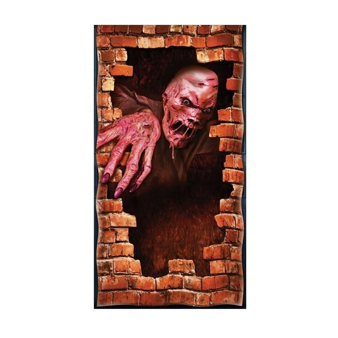 Melting Zombie Door Cover - Accessory