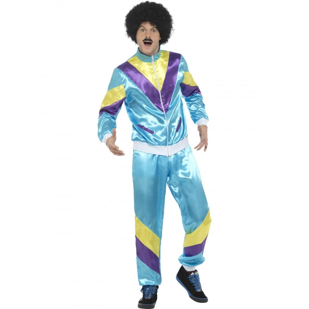 Mens 80u0026#039;s Height Of Fashion Shell Suit (Blue) - Adult  sc 1 st  a2z Fancy Dress & 80u0027s Height Of Fashion Shell Suit (Blue) - Adult Costume