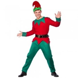 Mens Elf Deluxe - Adult Costume