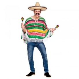 Mexican Bandit Poncho - Adult Costume