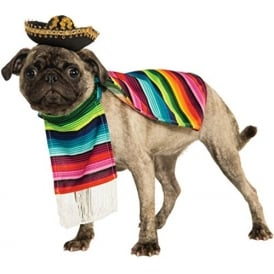 Mexican Poncho Dog Costume - Pet Accessory