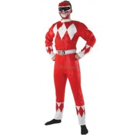 ~ Mighty Morphin Red Power Ranger - Adult Costume
