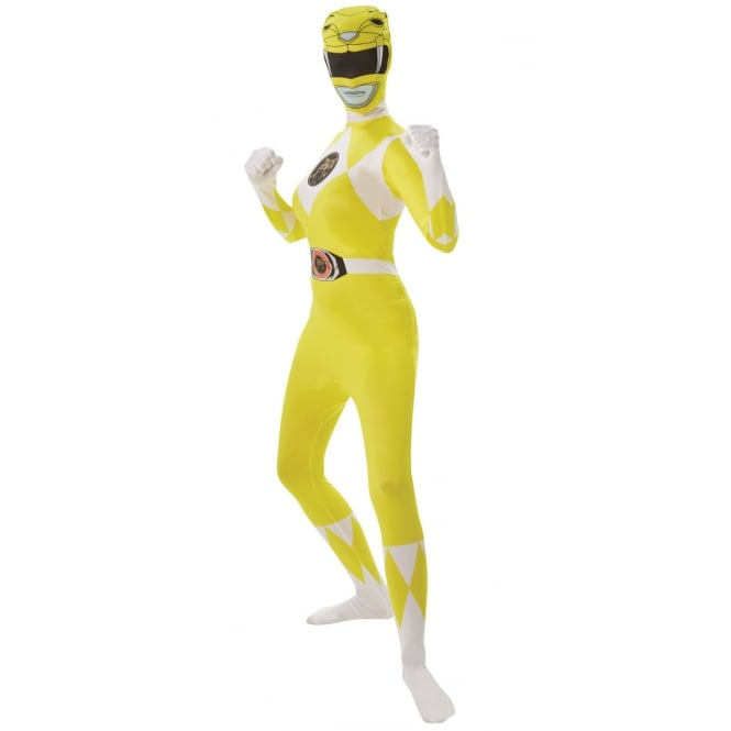 Adult Mighty Morphin Red Power Ranger Fancy Dress Costume 2nd Skin Body Suit