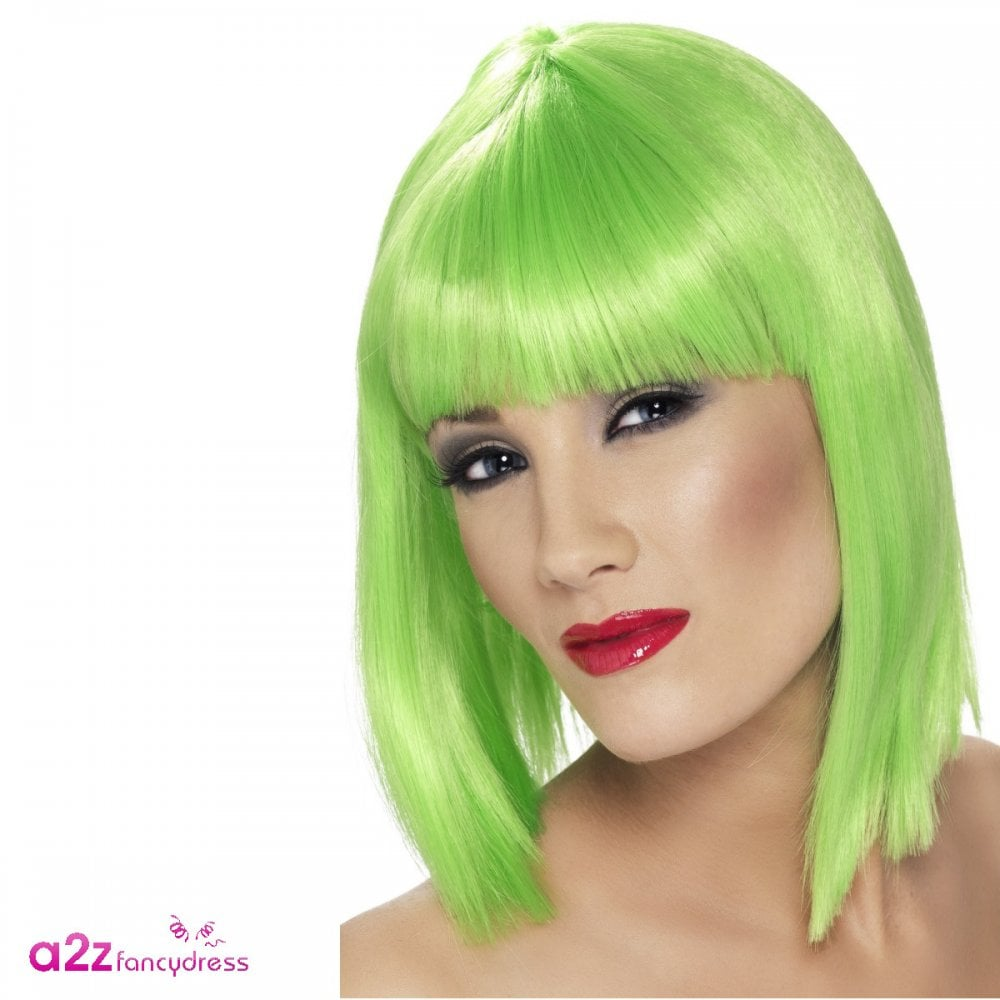 Neon Green Wig - Adult Accessory - Accessories from A2Z Fancy Dress UK ac1d3c9a8341