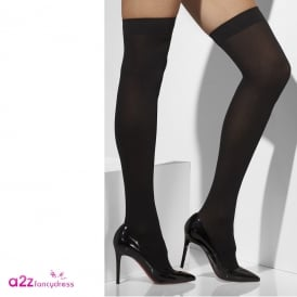 Opaque Hold-Ups (Black) - Adult Accessory
