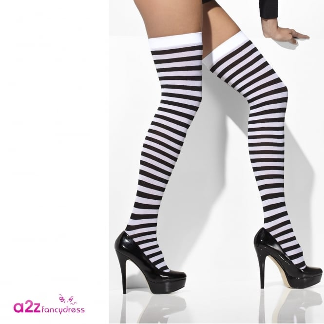 Opaque Hold-Ups (Black & White) - Adult Accessory