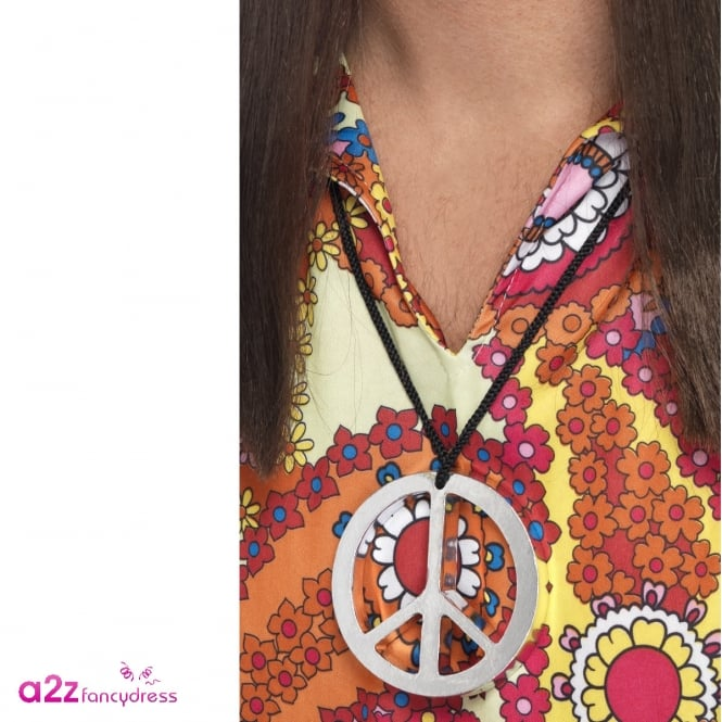 Peace Sign Medallion - Adult Accessory