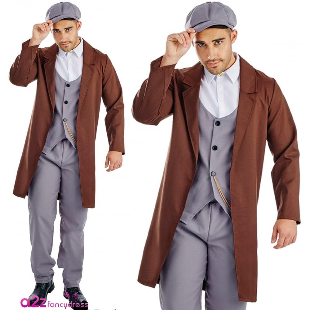sc 1 st  a2z Fancy Dress & Peaked Cap Gangster - Adult Costume