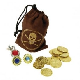 Pirate Coins, Jewellery & Pouch - Accessory