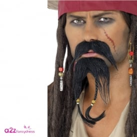 Pirate Facial Hair Set - Adult Accessory