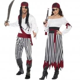 Pirate Man & Lady - Couples Costumes