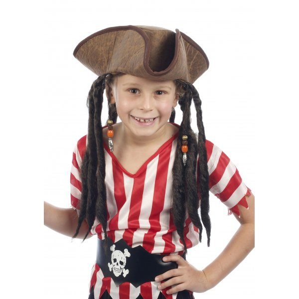 280ae835b93 PIRATES OF THE CARIBBEAN Pirate Hat With Dreadlocks - Accessory ...