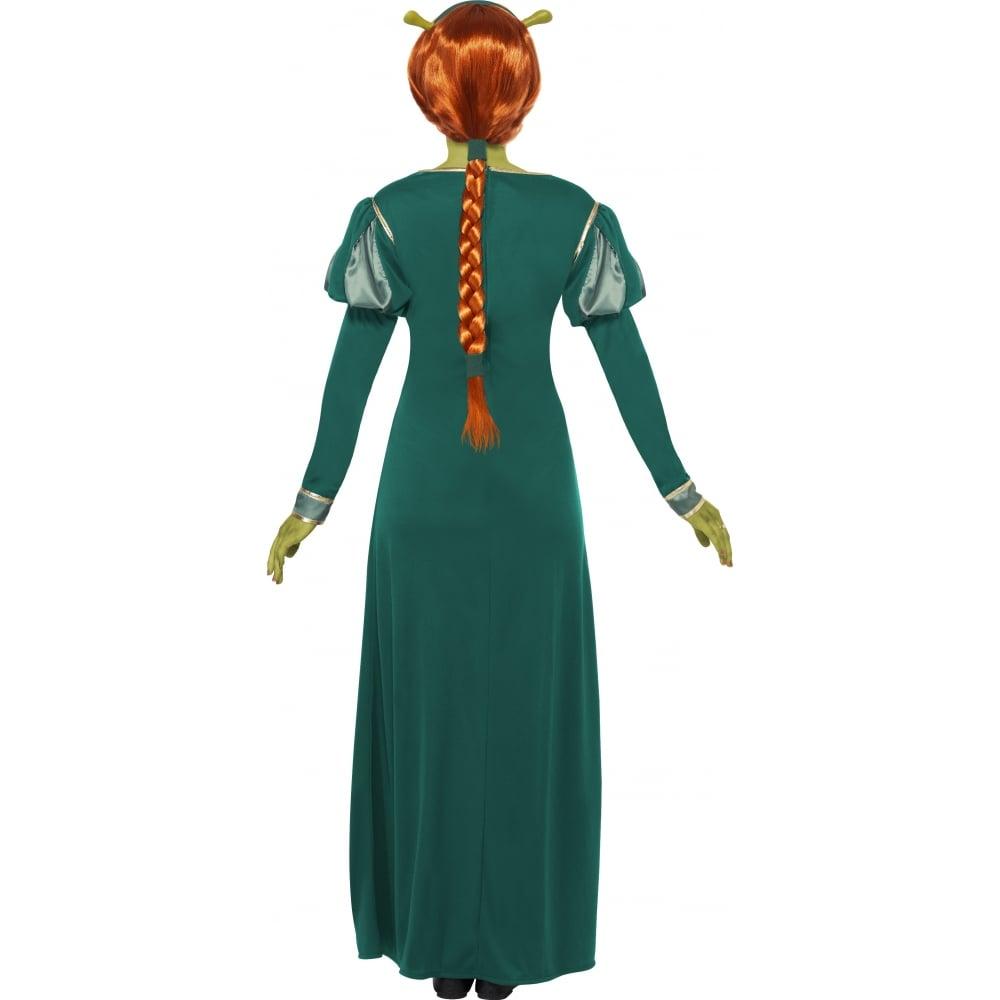 Princess Fiona (Shrek) - Adult Costume Set (Costume Green Make-Up  sc 1 st  a2z Fancy Dress & Princess Fiona (Shrek) - Adult Costume Set (Costume Green Make-Up ...