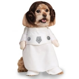 Princess Leia Dog Costume - Pet Accessory