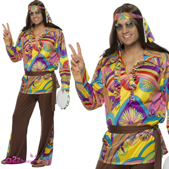 Psychedelic Hippie Man - Adult Costume