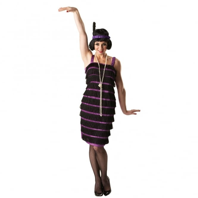 Purple Flapper Dress (1920s) - Adult Costume