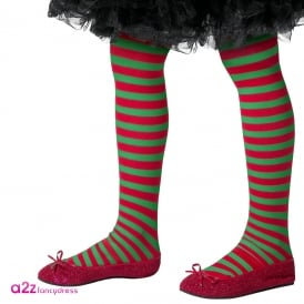 Red & Green Tights - Kids Accessory