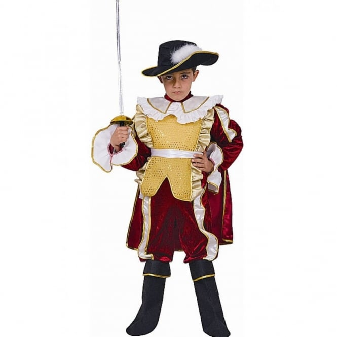 Red Noble Knight Musketeer- Kids Costume  sc 1 st  a2z Fancy Dress & Red Noble Knight Musketeer- Kids Costume - Kids Costumes from A2Z ...