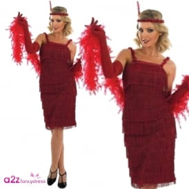 Red Roaring 20's Flapper - Adult Costume