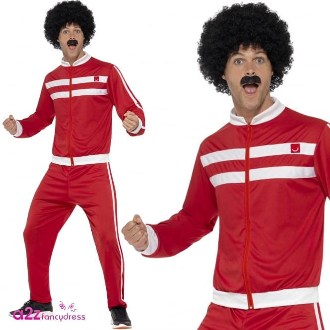 Red Scouser Tracksuit - Adult Costume