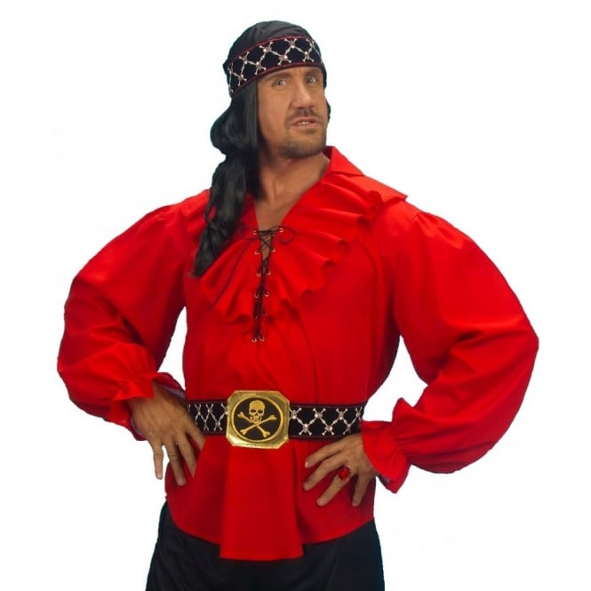 Renaissance Pirate Red Shirt - Adult Accessory