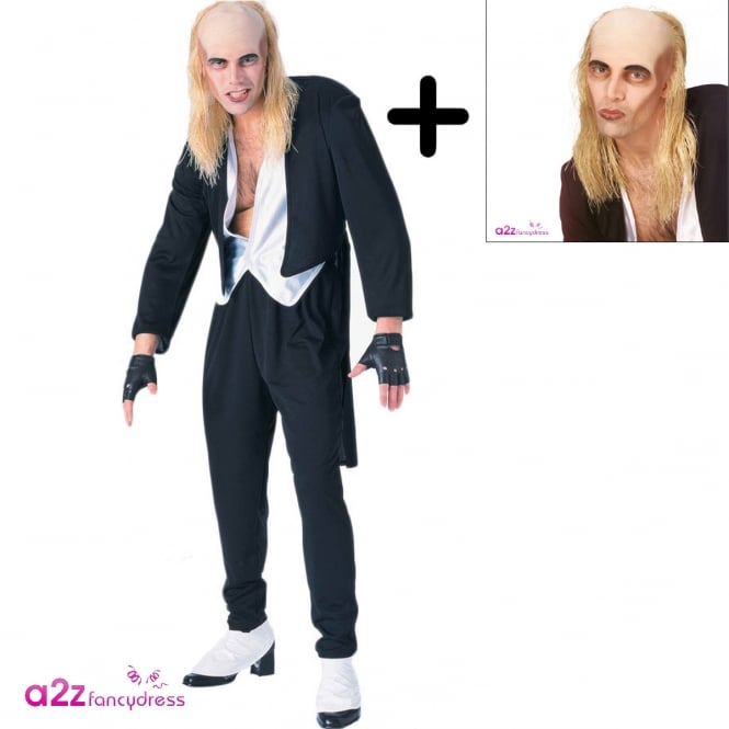 Riff Raff (The Rocky Horror Picture Show) - Adult Costume Set (Costume, Wig)