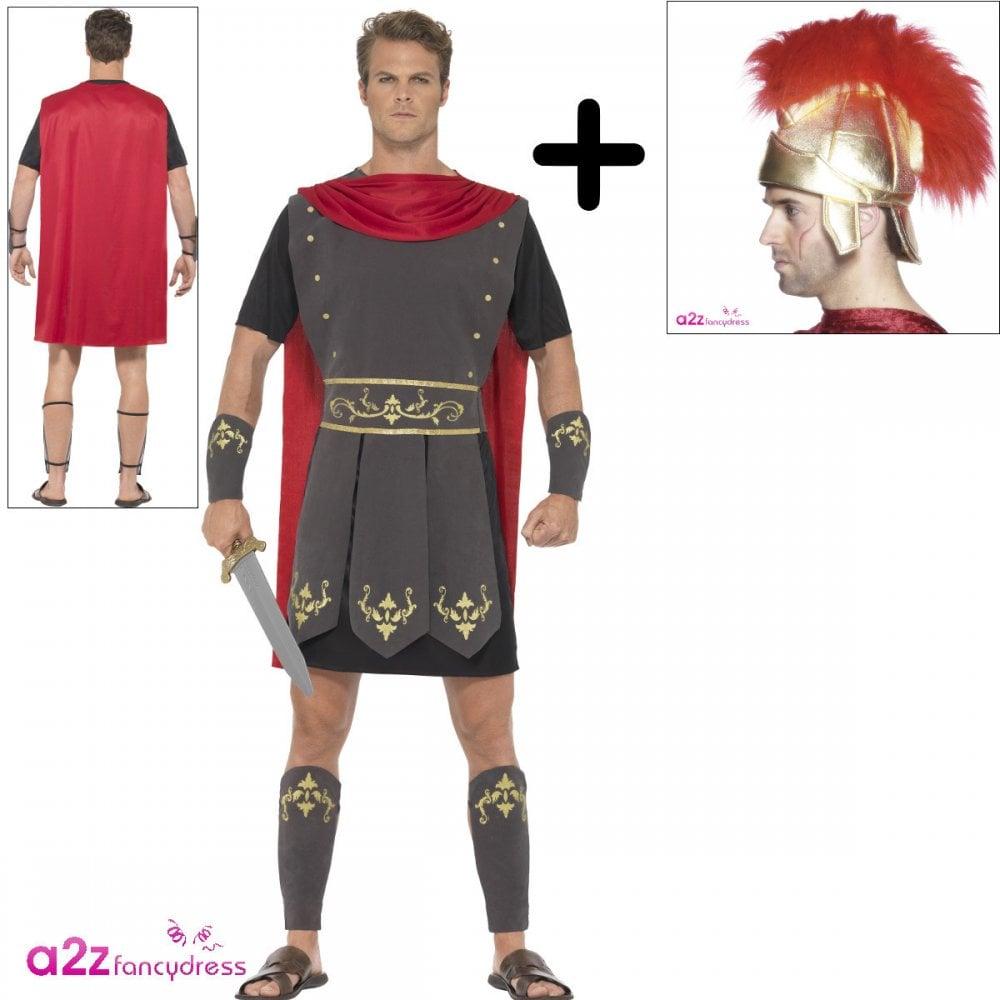 b94b5adb2 Roman Gladiator - Adult Costume Set (Costume, Fabric Helmet) - Costume Sets  from A2Z Fancy Dress UK