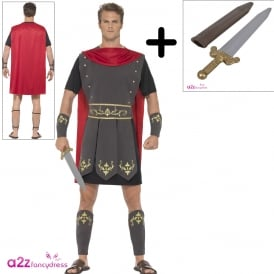 Roman Gladiator - Adult Costume Set (Costume, Sword)
